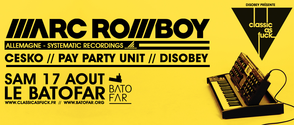 130817 - Marc Romboy - disobey banner